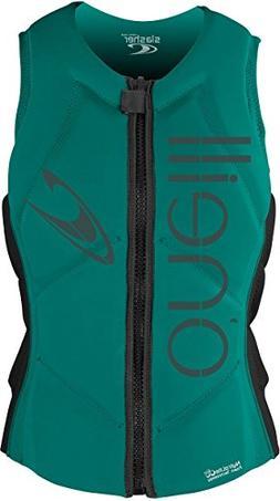 O'Neill Women's Slasher Comp Life Vest, Capri/Black, 8