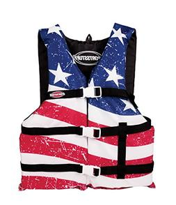 SportsStuff Stars & Stripes Life Jacket Adult Universal Gene
