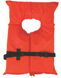 Coleman Stearns Adult Type II Life Jacket, Orange Boating Fr