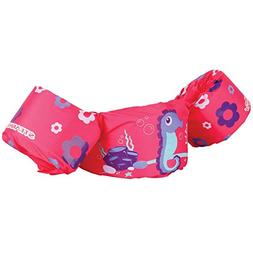 .Stearns. Puddle Jumper Seahorse and Flowers in Pink, US Coa