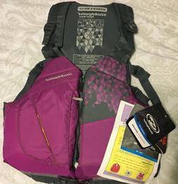 Stohlquist Women's Flo Life Jacket/PFD Purple/Gray - Plus -