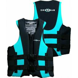 Sub Zero Neoprene & nylon Life Jacket Womens XL  Teal/Black
