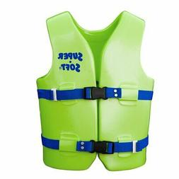 TRC Recreation Child Super-Soft USCG Vest, Kool Lime Green,