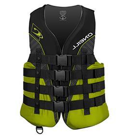 O'Neill  Men's Superlite USCG Life Vest, Black/Lime/Smoke/Li