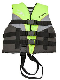 O'Neill Superlite Child USCG life vest  Lime/graphite/smoke