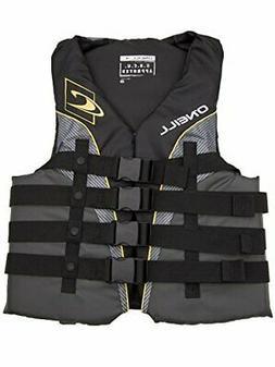 O'Neill mens Superlite USCG life vest XXL Black/graphite/smo