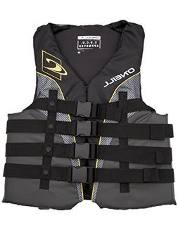 O'Neill mens Superlite USCG life vest 6XL Black/graphite/smo
