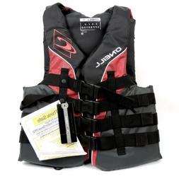 O'Neill  Men's Superlite USCG Life Vest, Black/Graphite/Red/