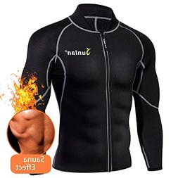 Men Sweat Neoprene Weight Loss Sauna Suit Workout Shirt Body