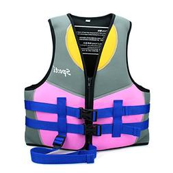 Child Swim Vest Girl - Minsk Youth Life Jacket Neoprene, Zip