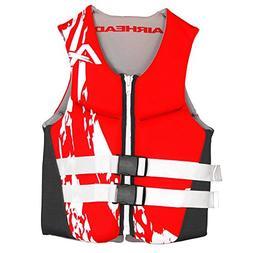 AIRHEAD SWOOSH Kwik-Dry Neolite Flex Vest, Red