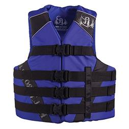 Full Throttle Adult Nylon Water Sports Vest, Blue