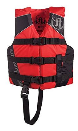 Full Throttle Child Nylon Water Sports Vest, Red