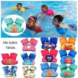 Toddler Kid Baby Swim Life Jacket Vest Arm Band Swimming Poo
