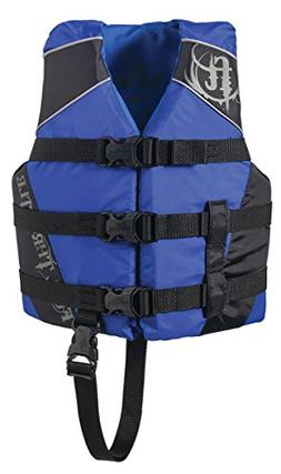Full Throttle Children's Nylon Water Sports Vest, blue