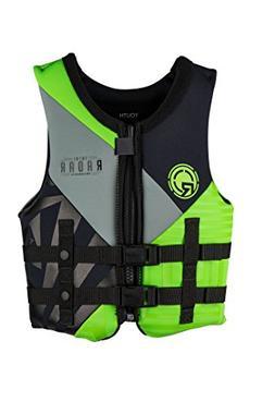Radar TRA Boy's - CGA Life Vest - Black/Lime Green - Youth