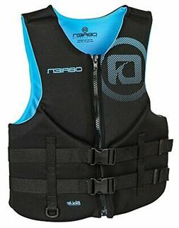 O'Brien Men's Traditional Neoprene Life Jacket, Cyan, 3X-Lar