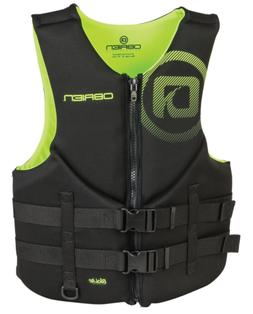 O'Brien Men's Traditional Neoprene Life Jacket, Green, X-Sma