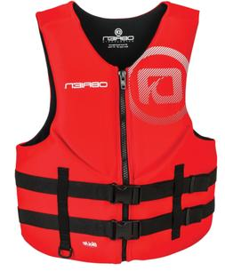 O'Brien Men's Traditional Neoprene Life Jacket, Red, Medium
