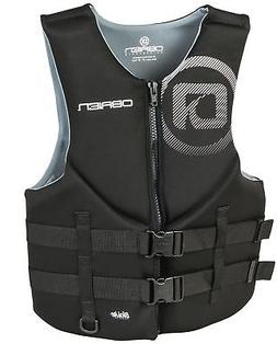 O'Brien Men's Traditional Neoprene Life Jacket, Black, Mediu