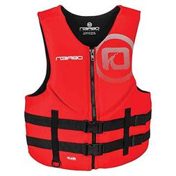 O'Brien Men's Traditional Neoprene Life Jacket, Red, Large