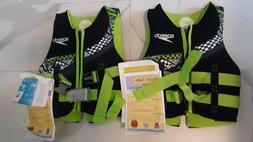 TWO Speedo Youth Life Jackets / Ski Vests * 50 to 90 pounds