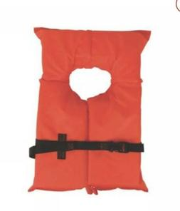 Type II Orange Life Jacket Vest For Adults-  USCG Approved