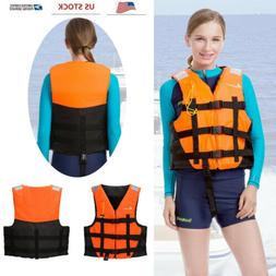 Universal Adjustable Adult Life Jacket With Whistle Reflecti