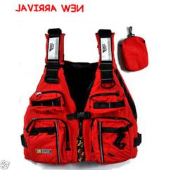 Universal Adult PE Life Jacket Vest Flotation Device For Fis