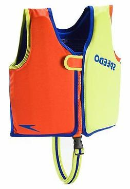 Speedo Kids UPF 50+ Begin to Swim Classic Swim Vest, Lime/Or
