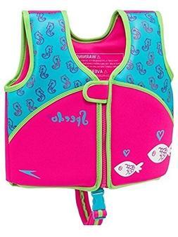 Speedo Floatation Swim Vest Toddler Girls UV Neoprene Ages 2
