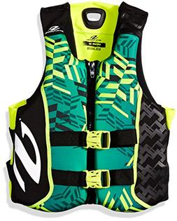 Stearns Men's V1 Series Hydroprene Life Jacket, Green/Yellow