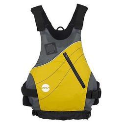 NRS VAPOR Low-Profile PFD Life Vest - YELLOW L/XL Fits 38-46