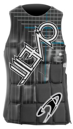 O'Neill Wake Waterski Men's Checkmate Comp Vest, Black/Graph