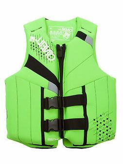 O'Neill Wetsuits Wake Waterski Teen USCG Life Vest, Dayglo/B