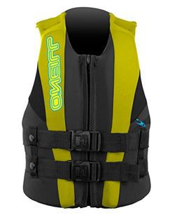 O'Neill Wetsuits Wake Waterski Child USCG Life Vest, Col/Yel
