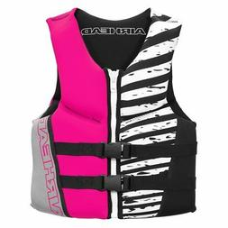 Airhead Wicked Neolite 50-90 Lb Pink Youth Life Vest Jacket