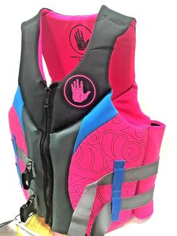 Body Glove - Womens L Pink Life Jacket - Coast Guard Approve