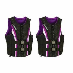 OBrien Womens Neo Impulse Wakeboard Life Vest, Purple, Adult