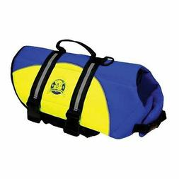 X-Small Dog Lifejacket Paws Aboard Neopre Blue/Yellow Life V