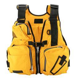 Yellow Boat Buoyancy Aid Sailing Kayak Fishing Life Jacket V