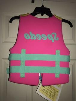 youth girl pink orange neoprene life jacket