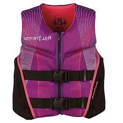 Full Throttle Youth Hinged Rapid-Dry Flex-Back Vest, Purple