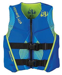 Full Throttle Youth Hinged Rapid-Dry Flex-Back Vest, Blue/Gr