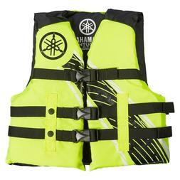 YAMAHA YOUTH Life Jacket Nylon Vest Blue Deluxe PWC VX Boat