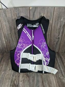 Stearns Youth Life Jacket Type III PFD 50-90lbs Purple Kids