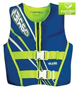 O'Brien Youth Neo Life Vest, Blue/Green, 50-90-Pound