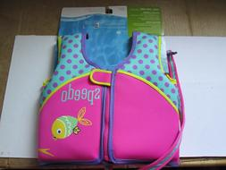 Speedo Youth Girl Neoprene Life Jacket Vest Water Safety Pin