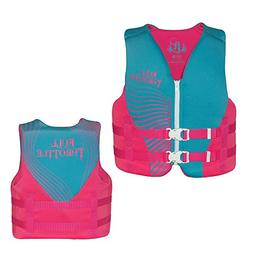Full Throttle Youth Rapid Dry Pfd Blue/Pink 50-90 Lbs