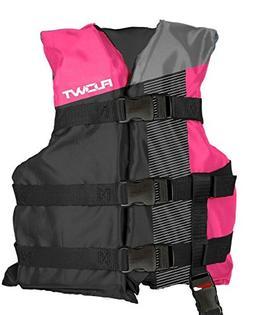 Flowt 40310-2-YTH Multi Sport Life Vest, Type III PFD, Pink,